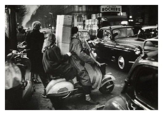 Willy Ronis - Le scooter - Paris