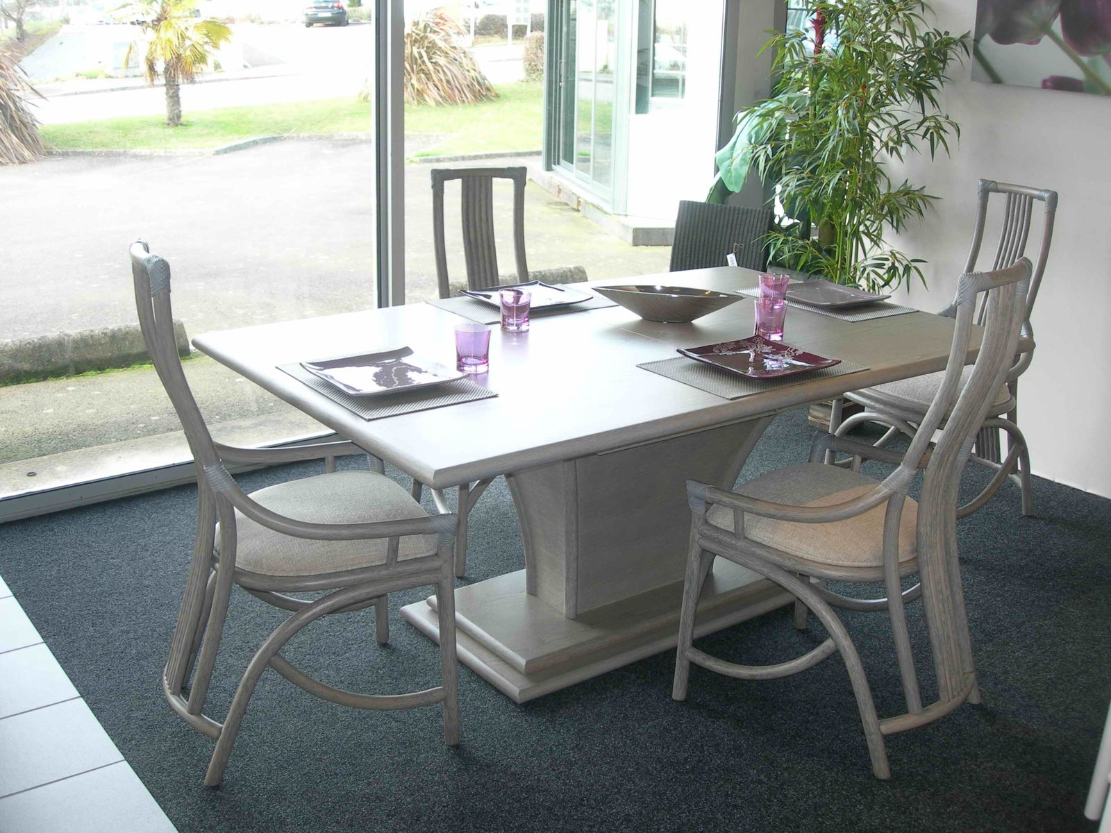 Album sejours exodia home design tables ceramique for Meubles rotin pour veranda