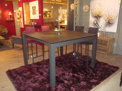Album tables ceramique extensible exodia home design for Table carree avec rallonge integree