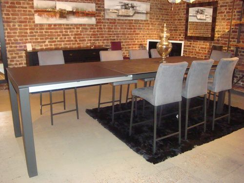 Les tables en ceramique exodia home design tables ceramique canapes salons - Table haute bar extensible ...