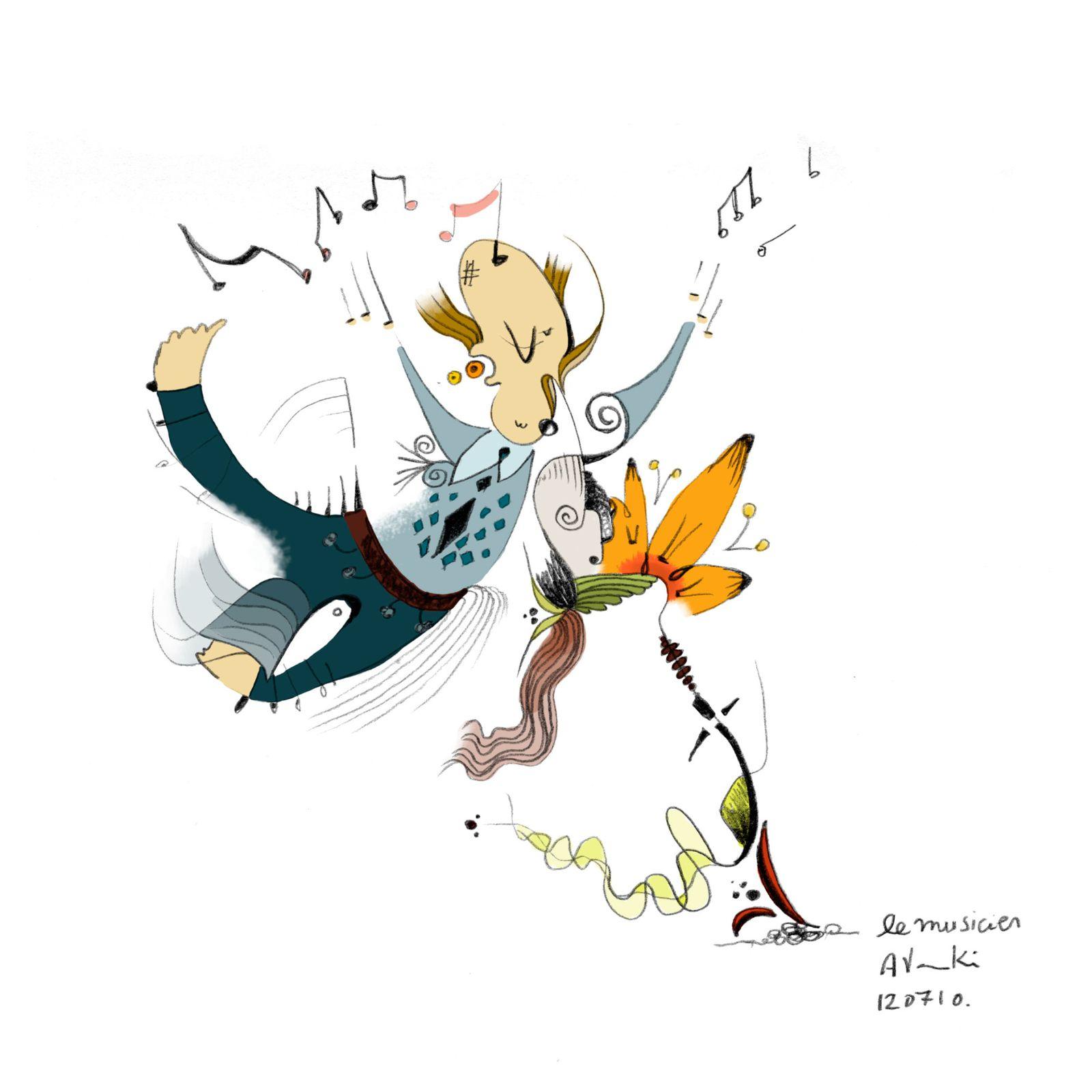 Homme orchestre / Musician - l' Illustre vie de Athina: nunila.over-blog.com/article-homme-orchestre-musician-54839656.html