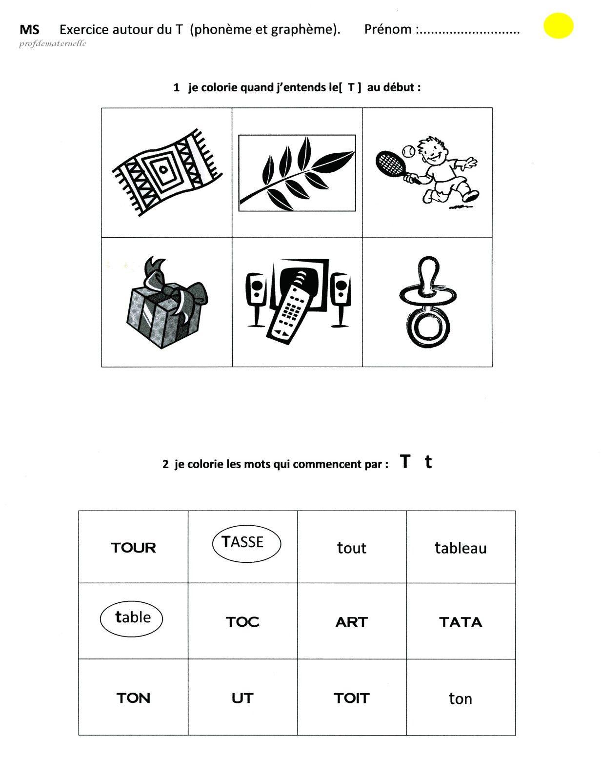 Fichier sons et lettres en maternelle profdematernelle - Mot commencant par pr ...