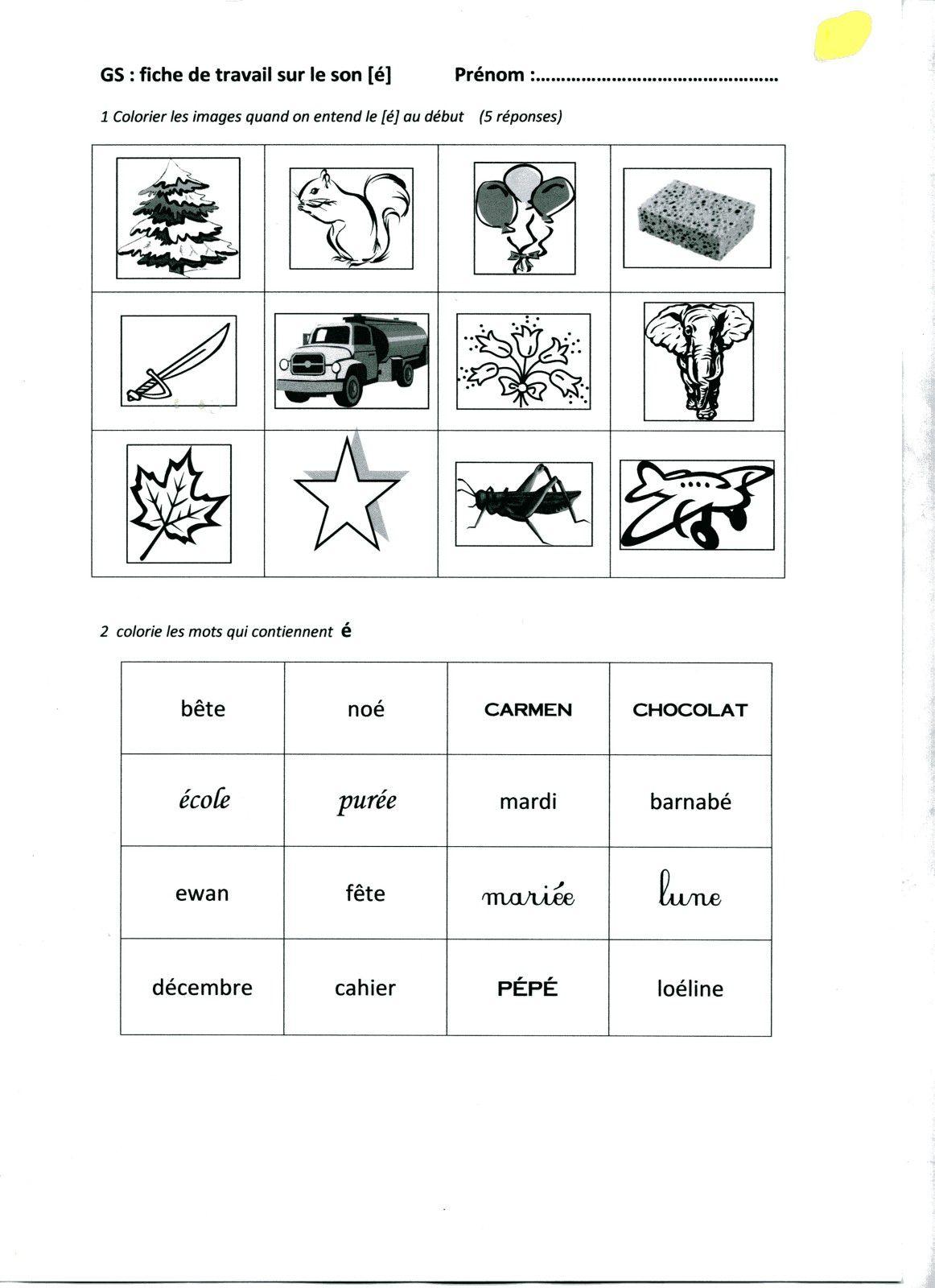 Exercices  proposés en complément ou à la suite d'un travail en langage proposé dans ma classe.