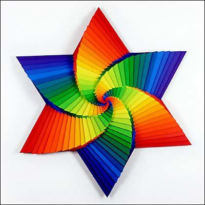 art-sculpture-papier couleur 3d - le blog de easydoor