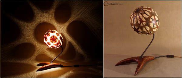 Lampe calebasse-6B