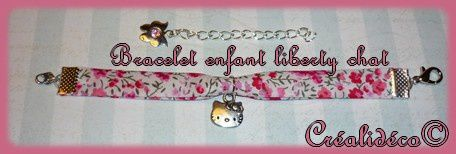 Bracelet liberty enfant chat