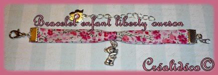 Bracelet liberty enfant ourson