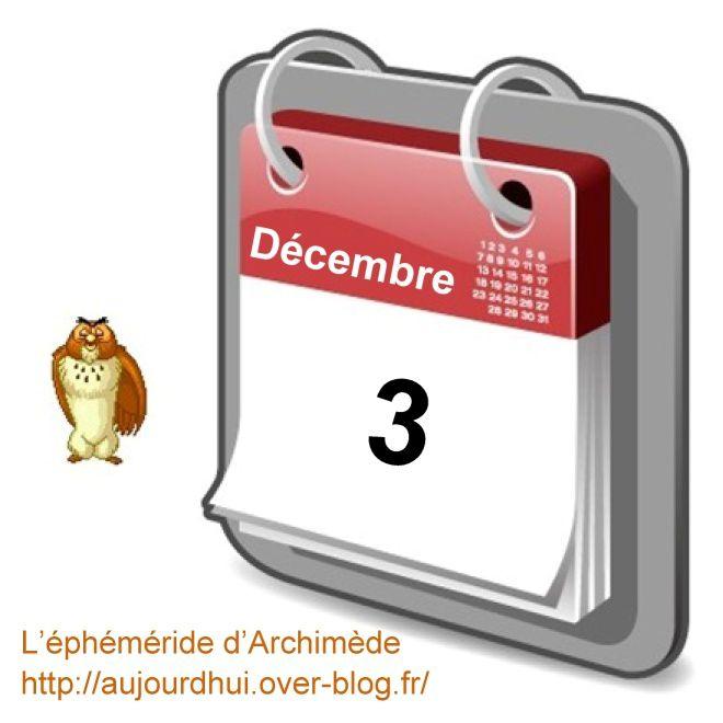 éphéméride 3décembre