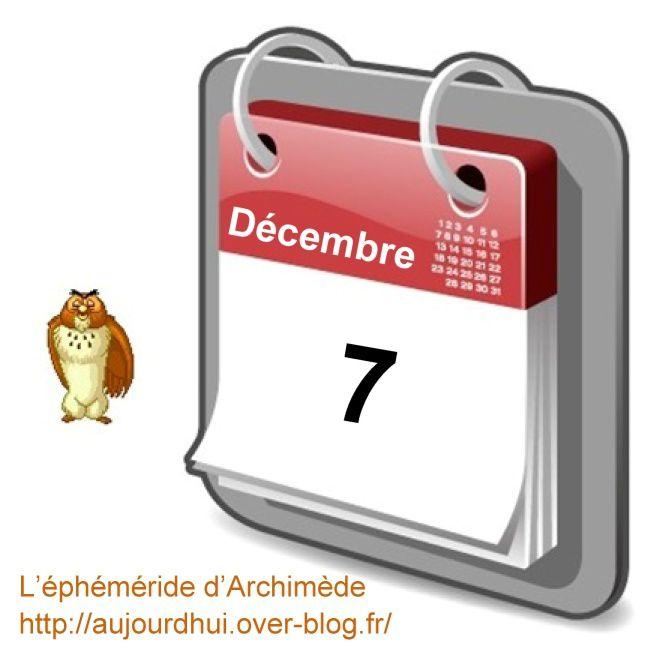 éphéméride 7 décembre