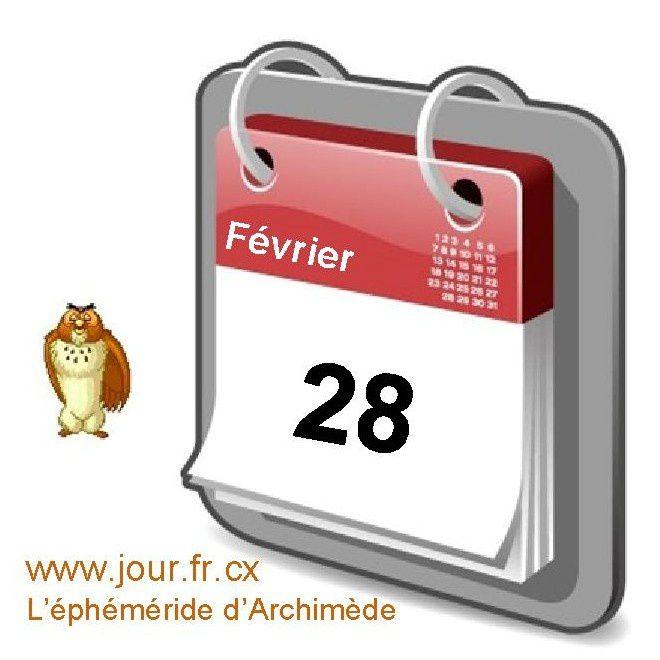 éphéméride 28 février calendrier gratuit agenda jour dicton saint
