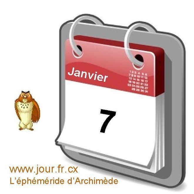 éphéméride 07 janvier calendrier gratuit agenda jour dicton saint