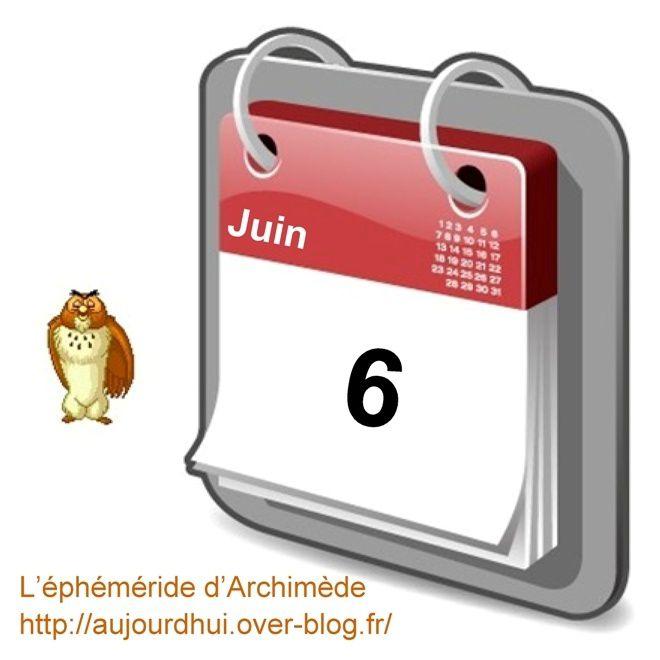 éphéméride 6 juin