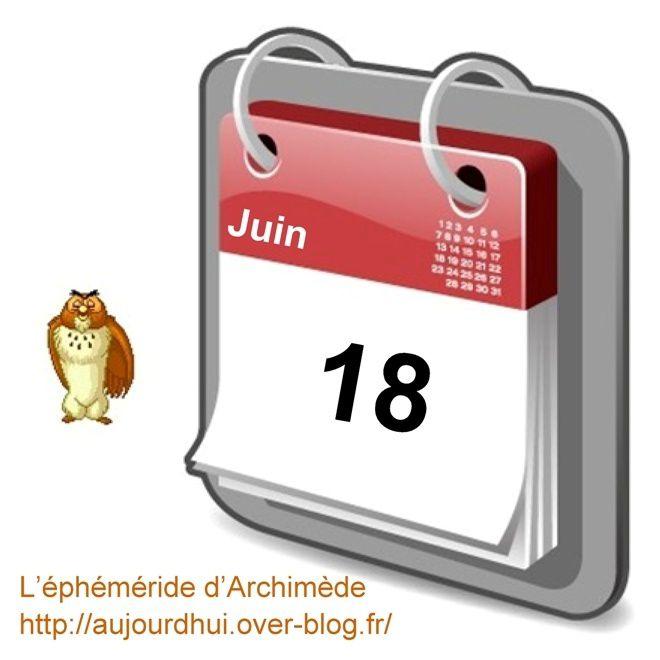 éphéméride 18 juin