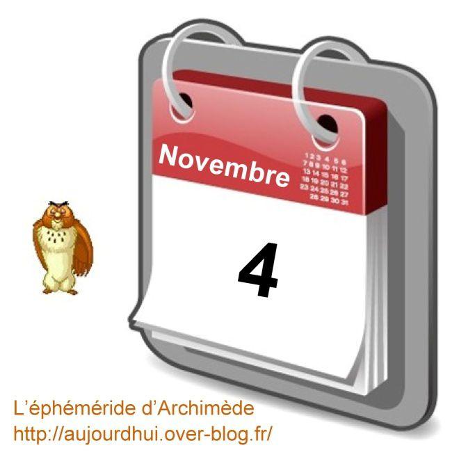 éphéméride 4 novembre