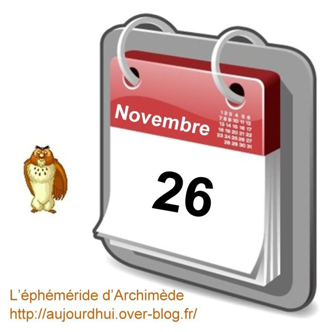 éphéméride 26 novembre
