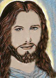 visage de Jésus m-d