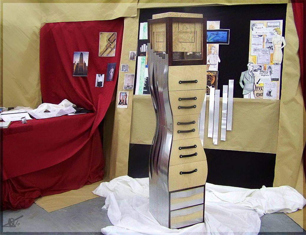 Voici mon meuble de DMA, conçu et réalisé par moi.