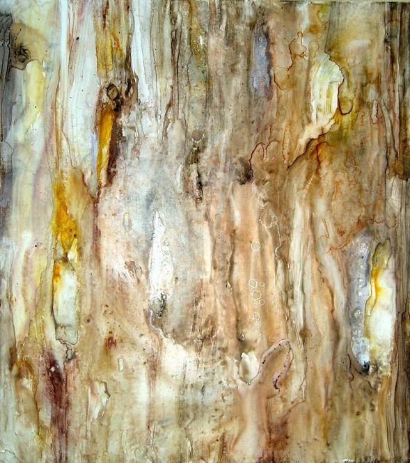 aquarelle à la limte de l'abstraction Janick Vergé