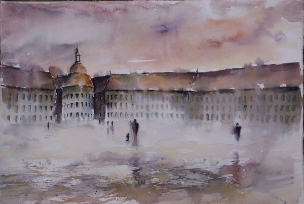 artiste Louis Aubert aquarelle