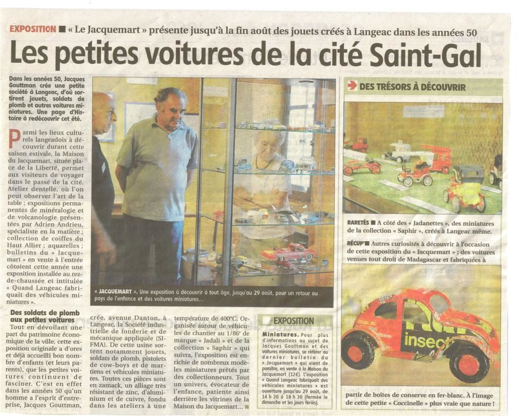 Article Du 06 08 2009 Journal La Montagne Le