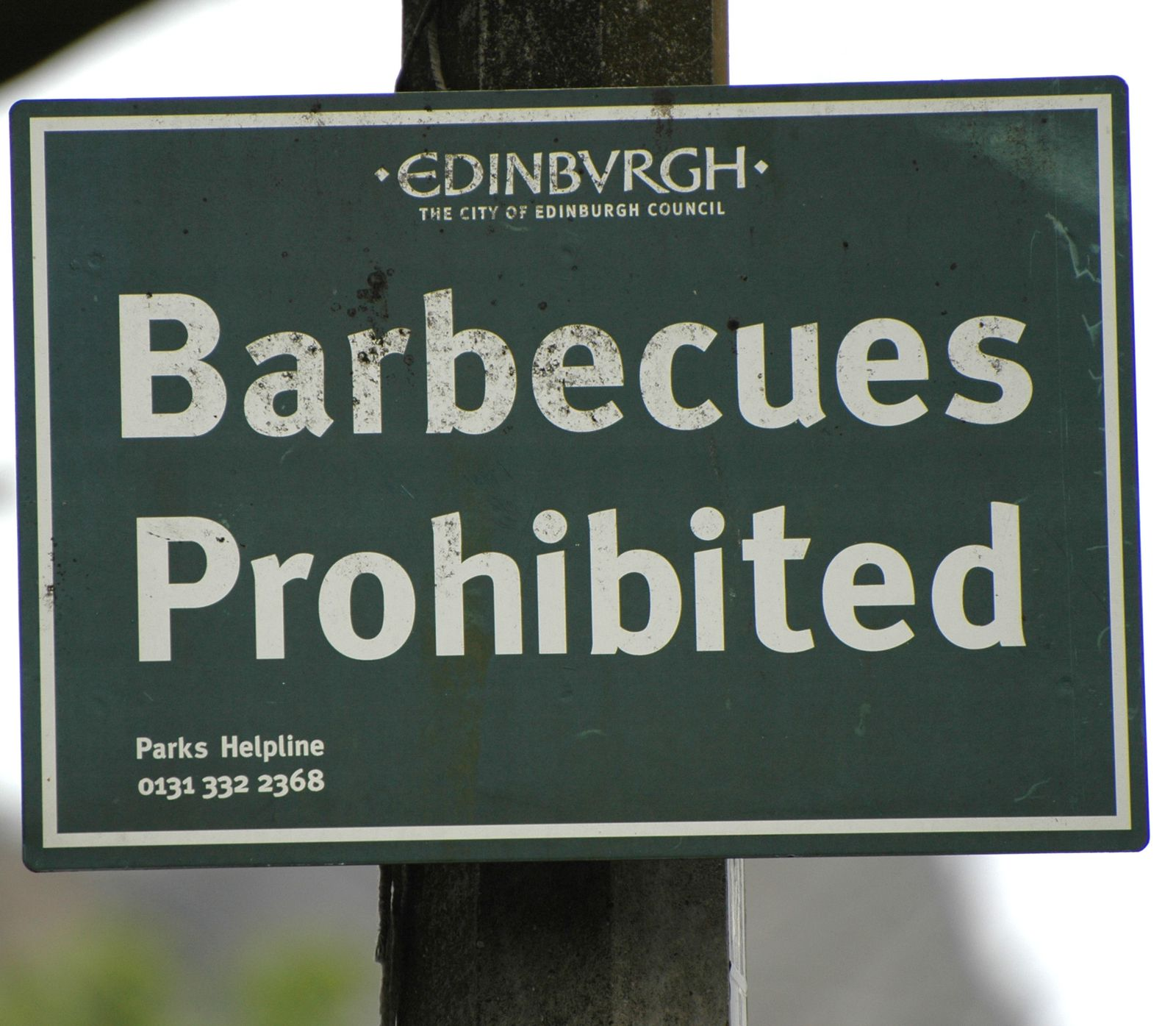 barbecues Prohibited