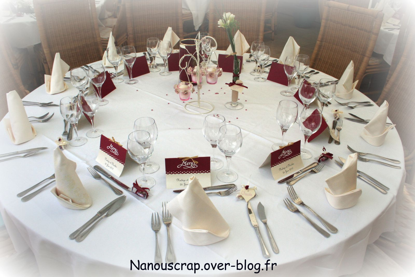D coration de table mariage discount id es et d for Decoration table mariage