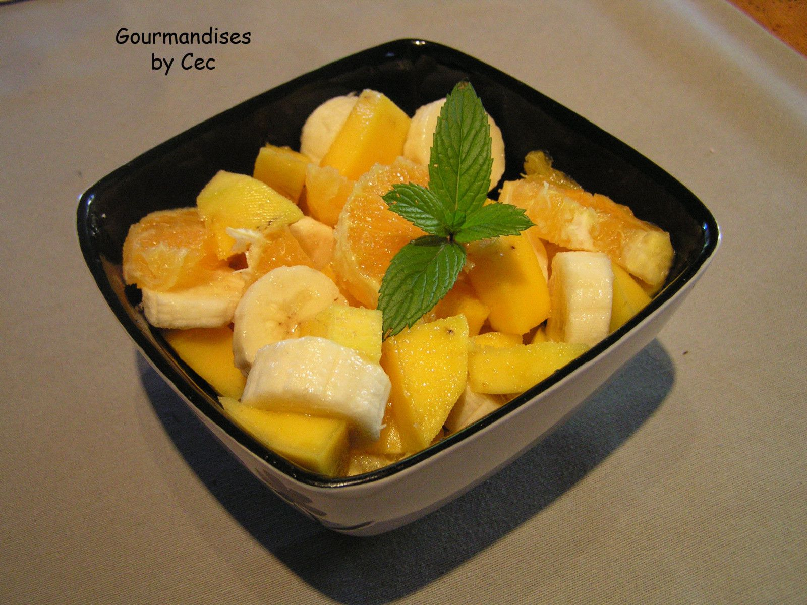Salade de fruits dautomne - Gourmandises