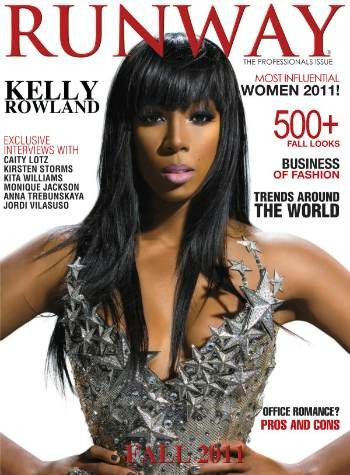kelly rowland en couverture du magazine runway news people et buzz actus black people info. Black Bedroom Furniture Sets. Home Design Ideas