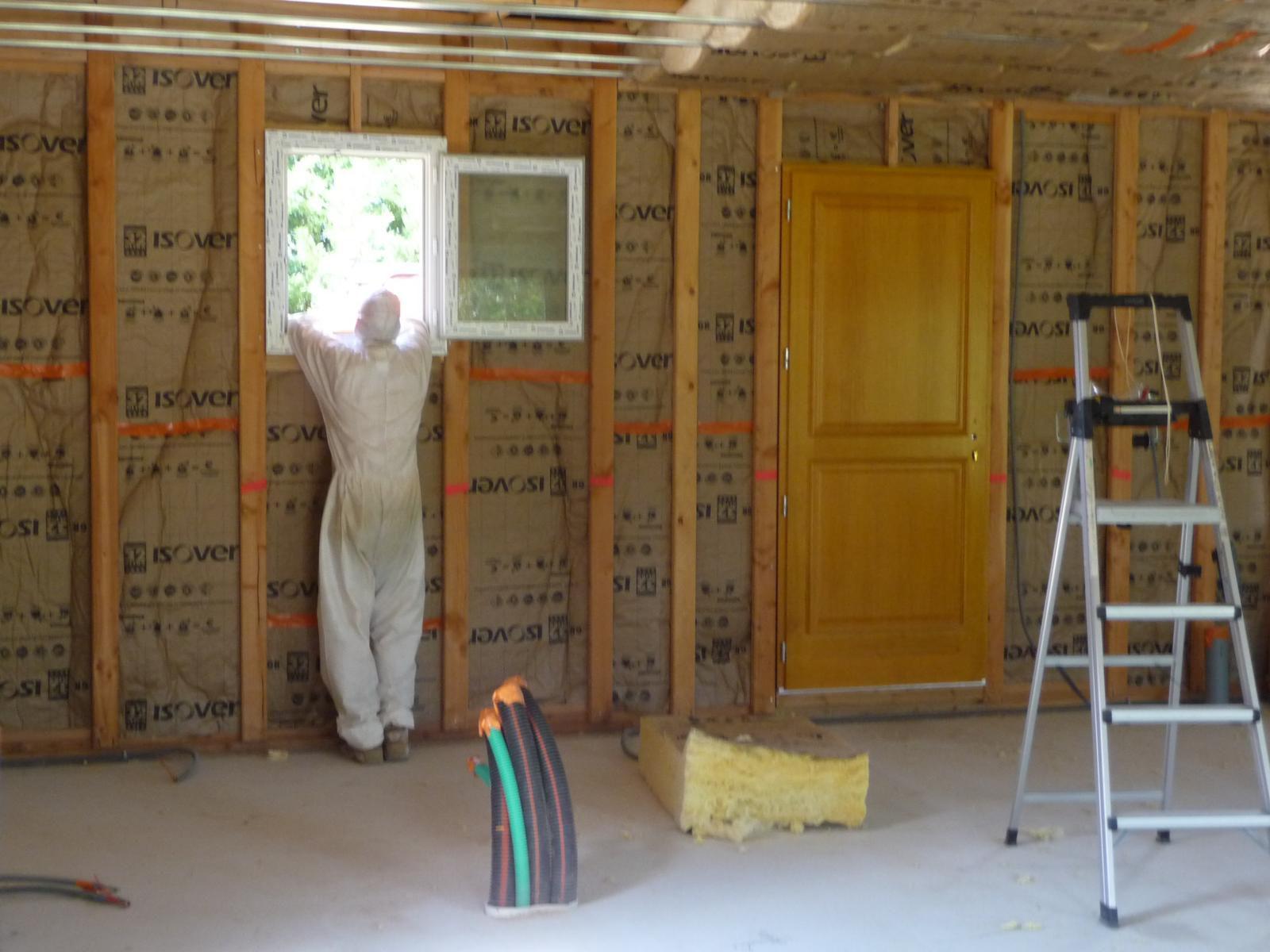 Notre maison ossature bois blog de la construction de for Isolation plafond maison