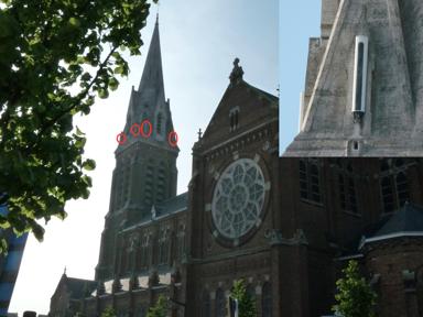 photo des antennes relais sur l'église saint vaast