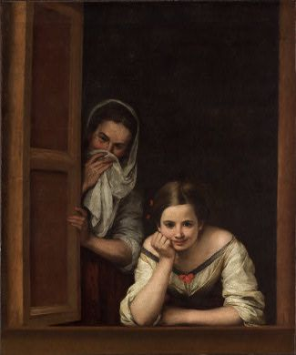 Murillo Deux femmes à la fenêtre 1655