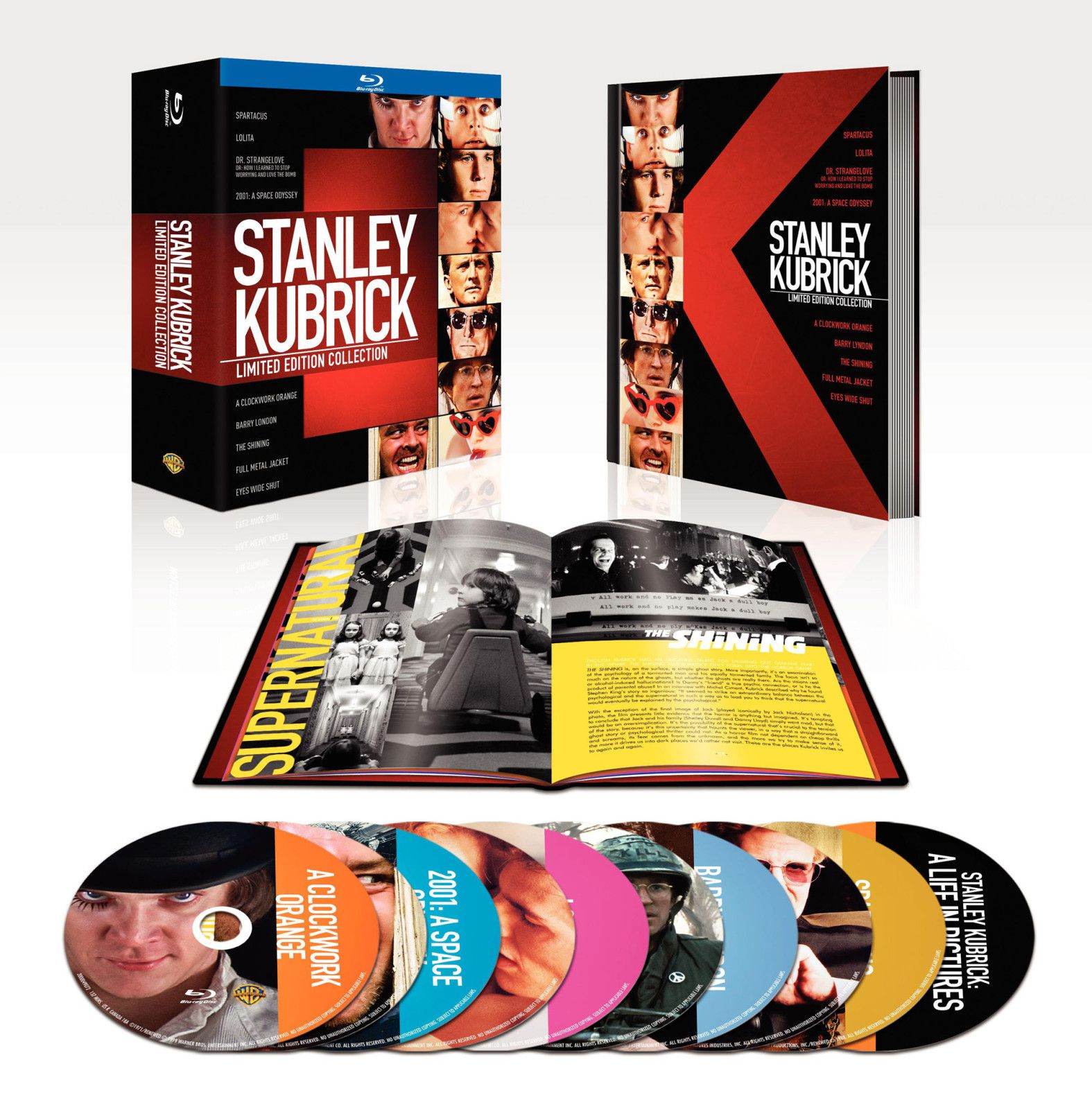 stanley kubrick collection en coffret blu ray dition limit e. Black Bedroom Furniture Sets. Home Design Ideas