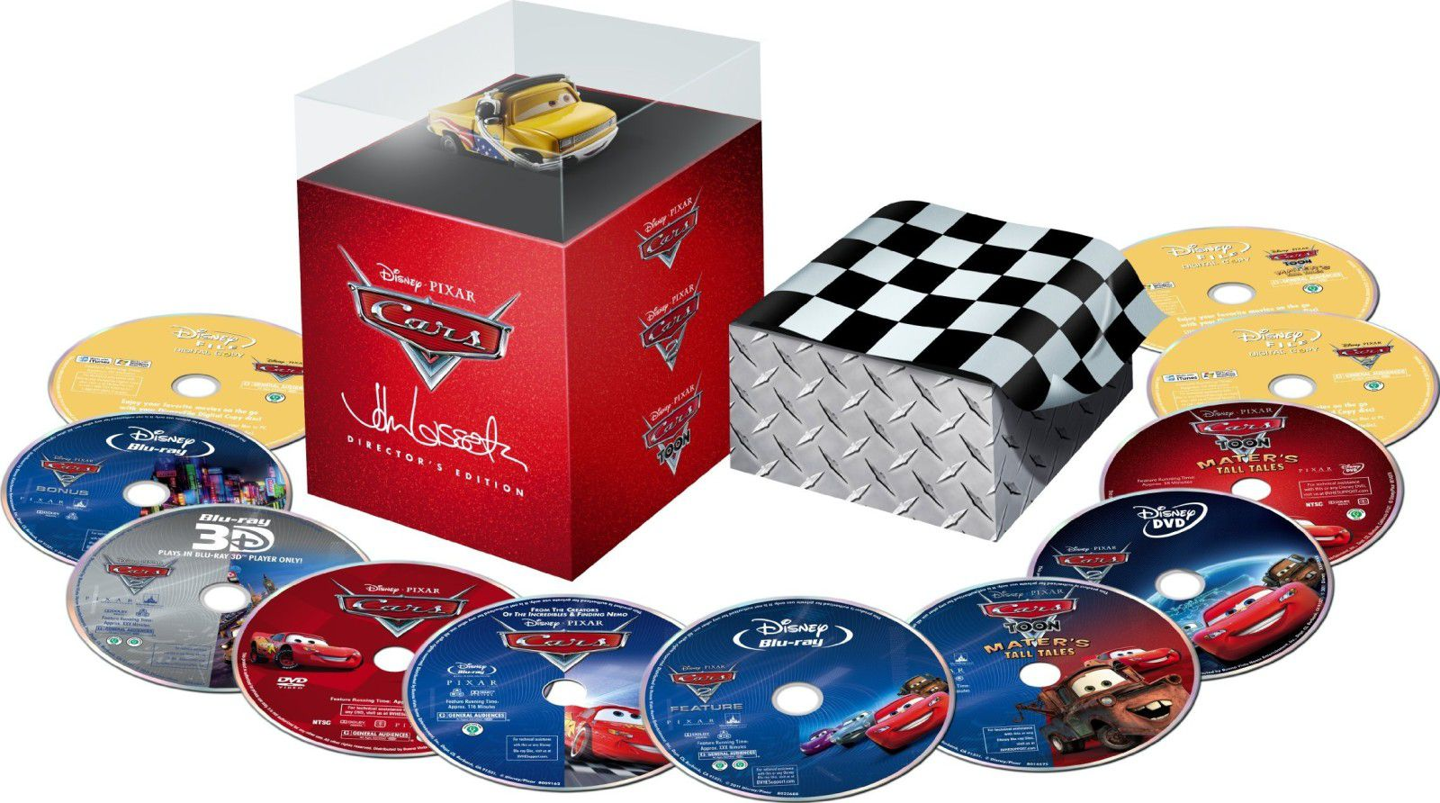 la collection cars 1 2 en coffret dvd blu ray director 39 s edition. Black Bedroom Furniture Sets. Home Design Ideas