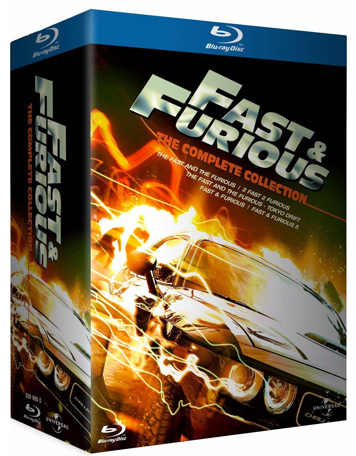fast furious the complete collection en dvd blu ray dition classique et collector pneu. Black Bedroom Furniture Sets. Home Design Ideas