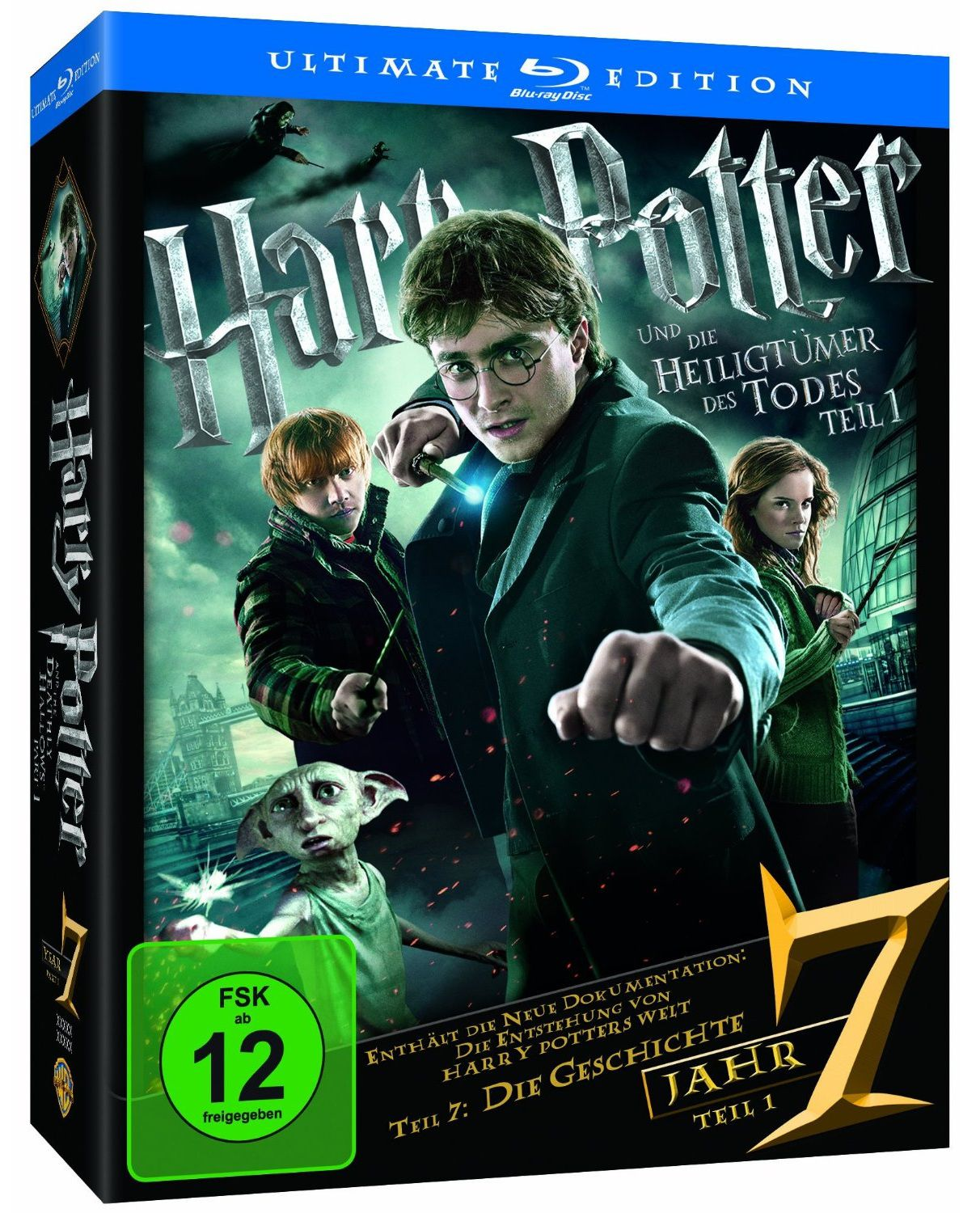 harry potter 7 et 8 en coffret dvd blu ray dition ultimate. Black Bedroom Furniture Sets. Home Design Ideas