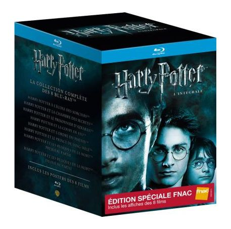 harry potter l 39 int grale totale en coffret dvd blu ray dition limit e avec les 8 affiches de. Black Bedroom Furniture Sets. Home Design Ideas