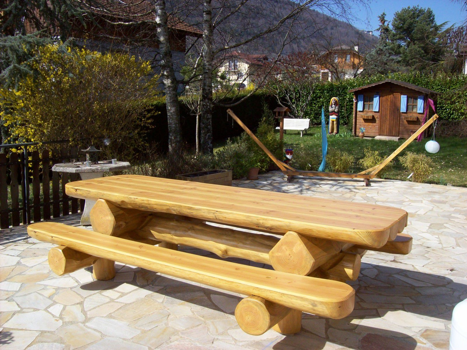 Album tables jardin rondins - Table de jardin bois ...