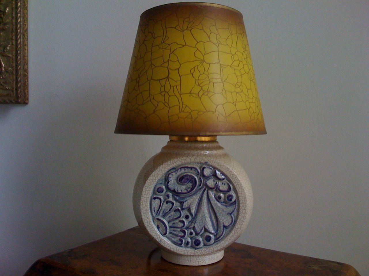 Pied De Lampe Ceramique Craquelee Art Deco Le Blog De La Chineuse