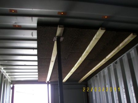 Isolation plafond second container autoconstruction pour for Autoconstruction maison container