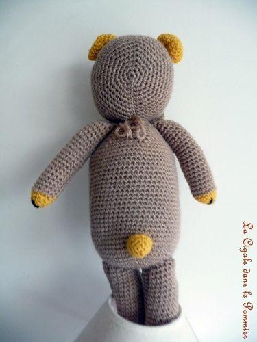 dos ours au crochet