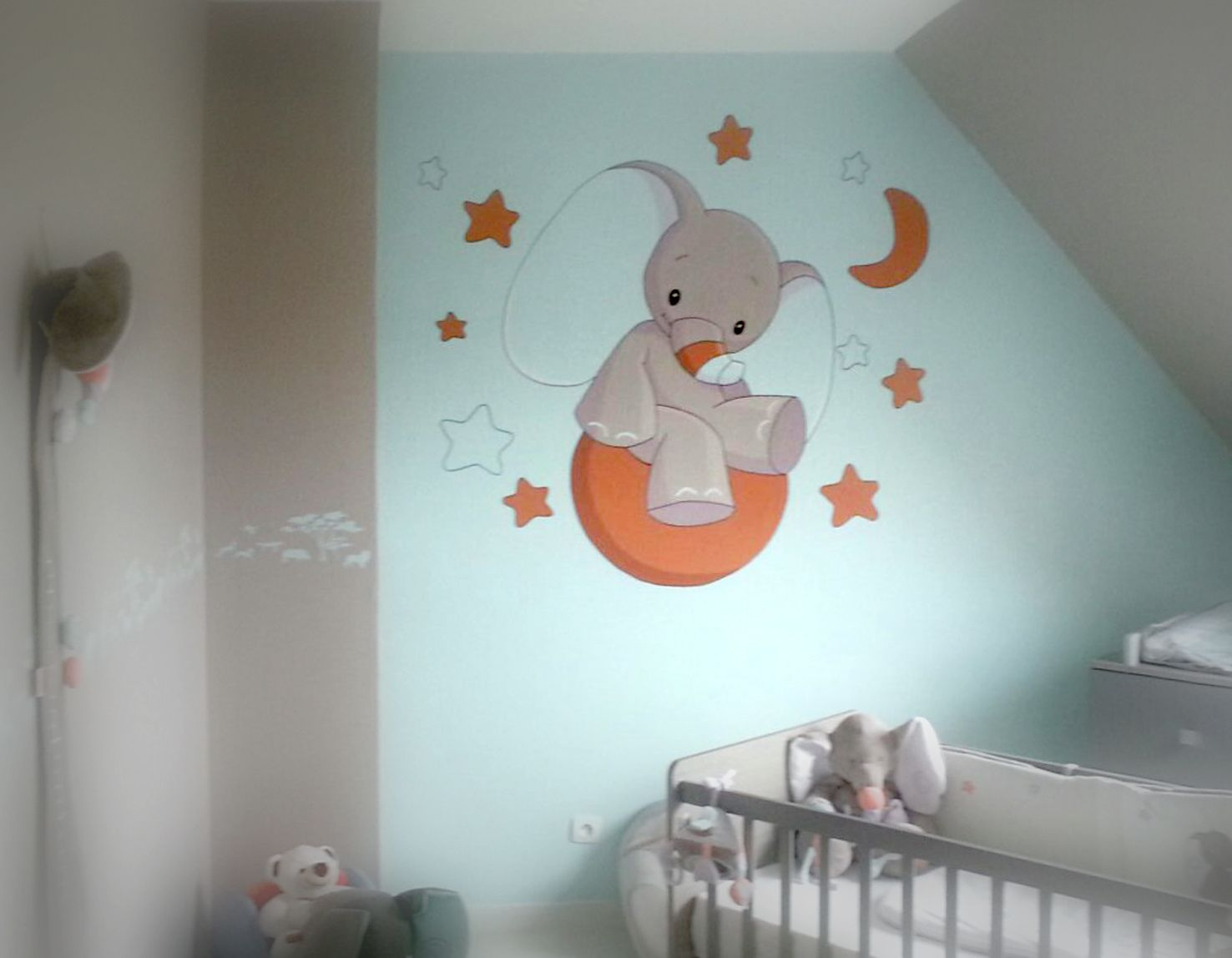 Decorations fresques seb peinture for Deco murale chambre bebe garcon