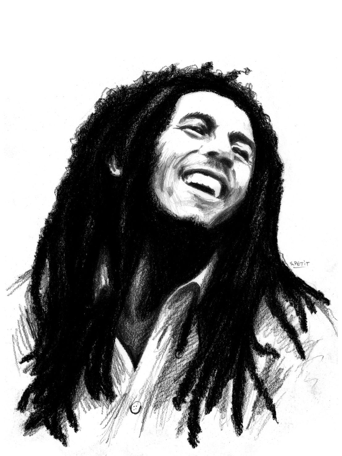 portrait de bob marley seb peinture. Black Bedroom Furniture Sets. Home Design Ideas