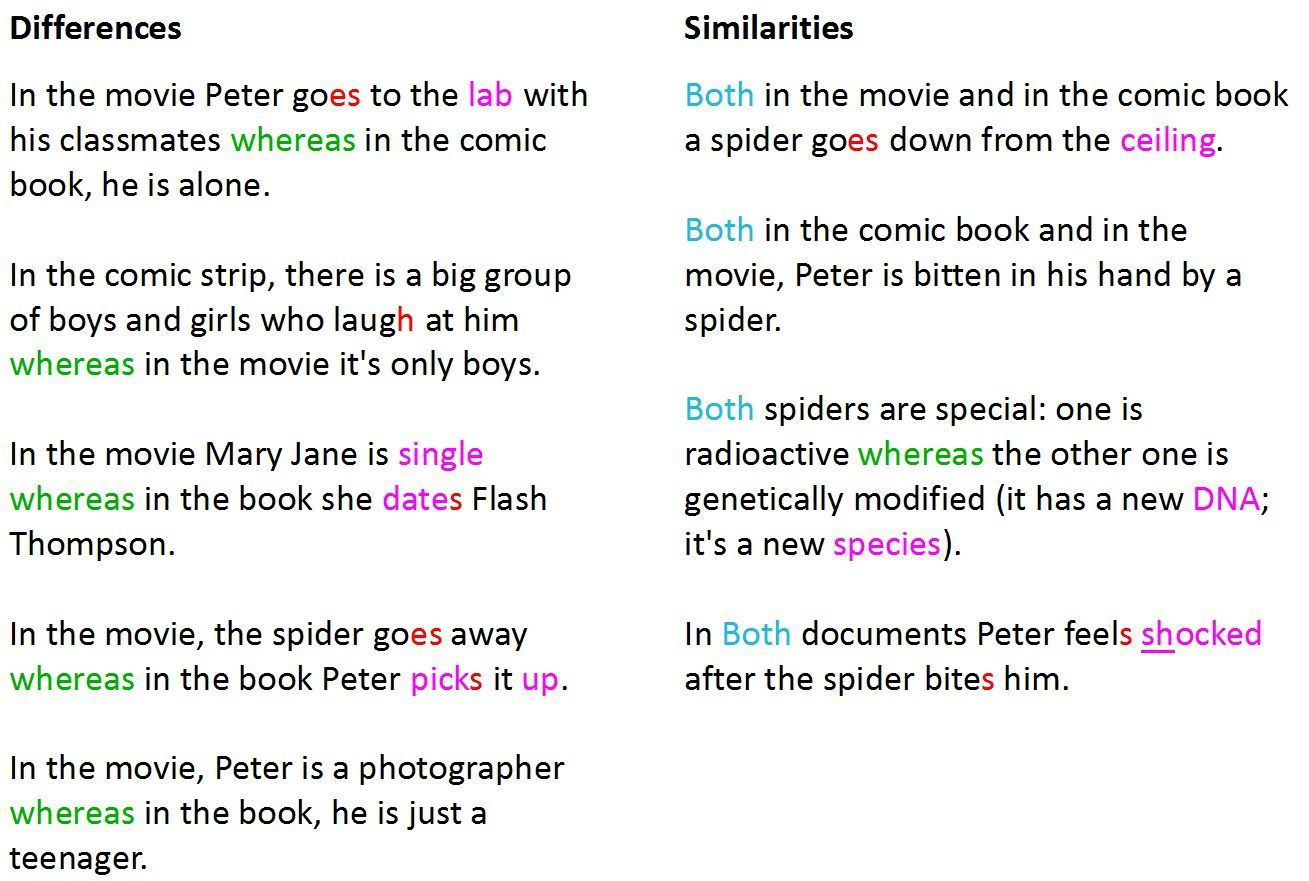 compare and contrast romeo and juliet the movie vs the book Get an answer for 'in romeo and juliet, what are the differences and similarities between the characters of romeo and juliet  in contrast, in her opening scene, juliet has only two lines, one .