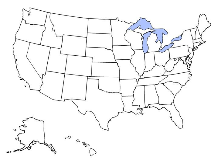 Blank Map of Usa Quiz images