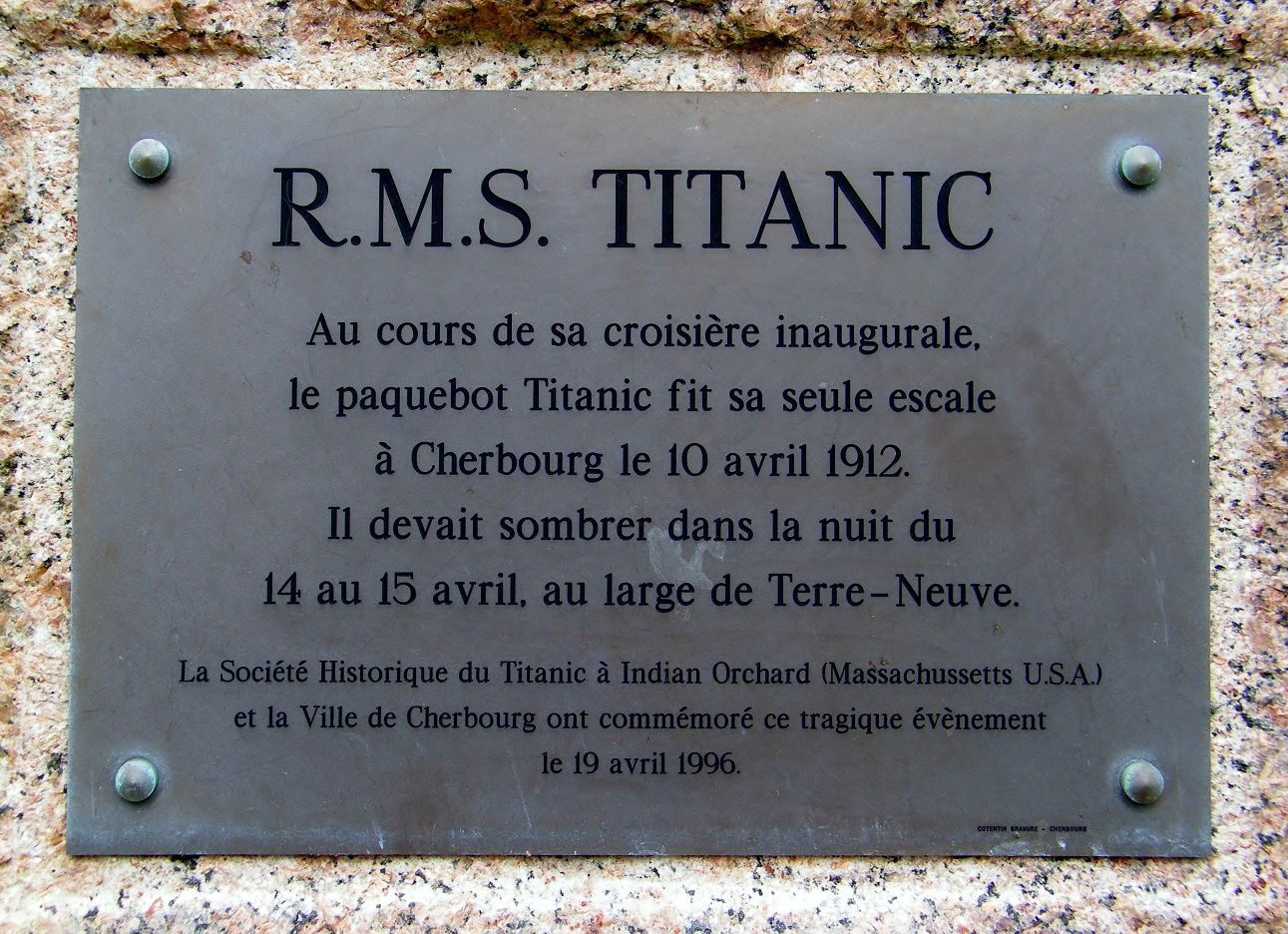 14-15 avril 2013 : Commémoration des 101 ans du naufrage 004-Titanic-Memorial--Cherbourg