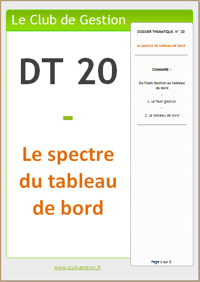 DT20 - Le spectre du tableau de bord
