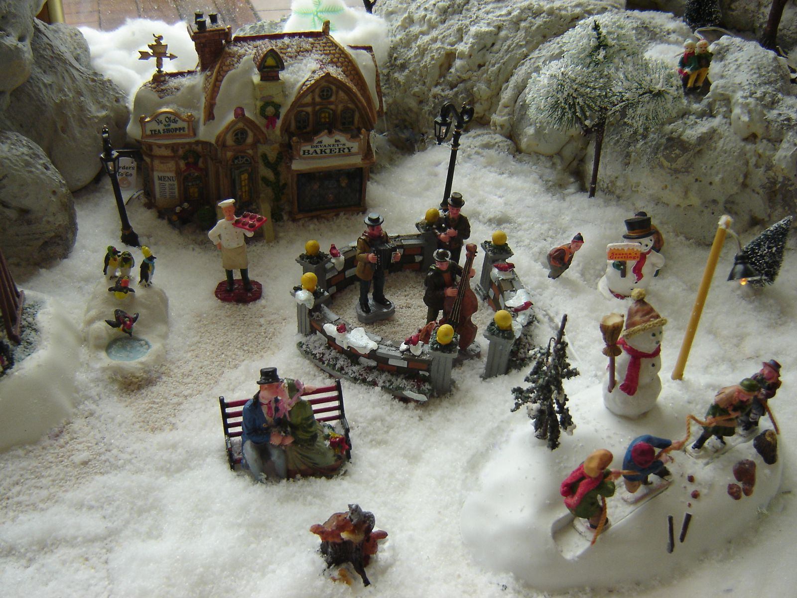 No l 2008 le d clic les villages miniatures de no l de lalie - Village de noel miniature ...