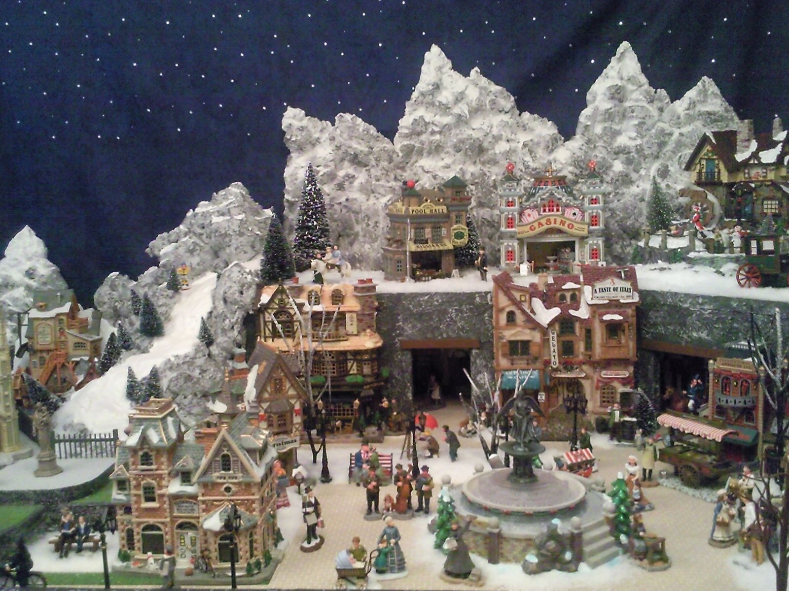 Les villages miniatures de no l de lalie lemax luville department 56 - Village de noel miniature ...