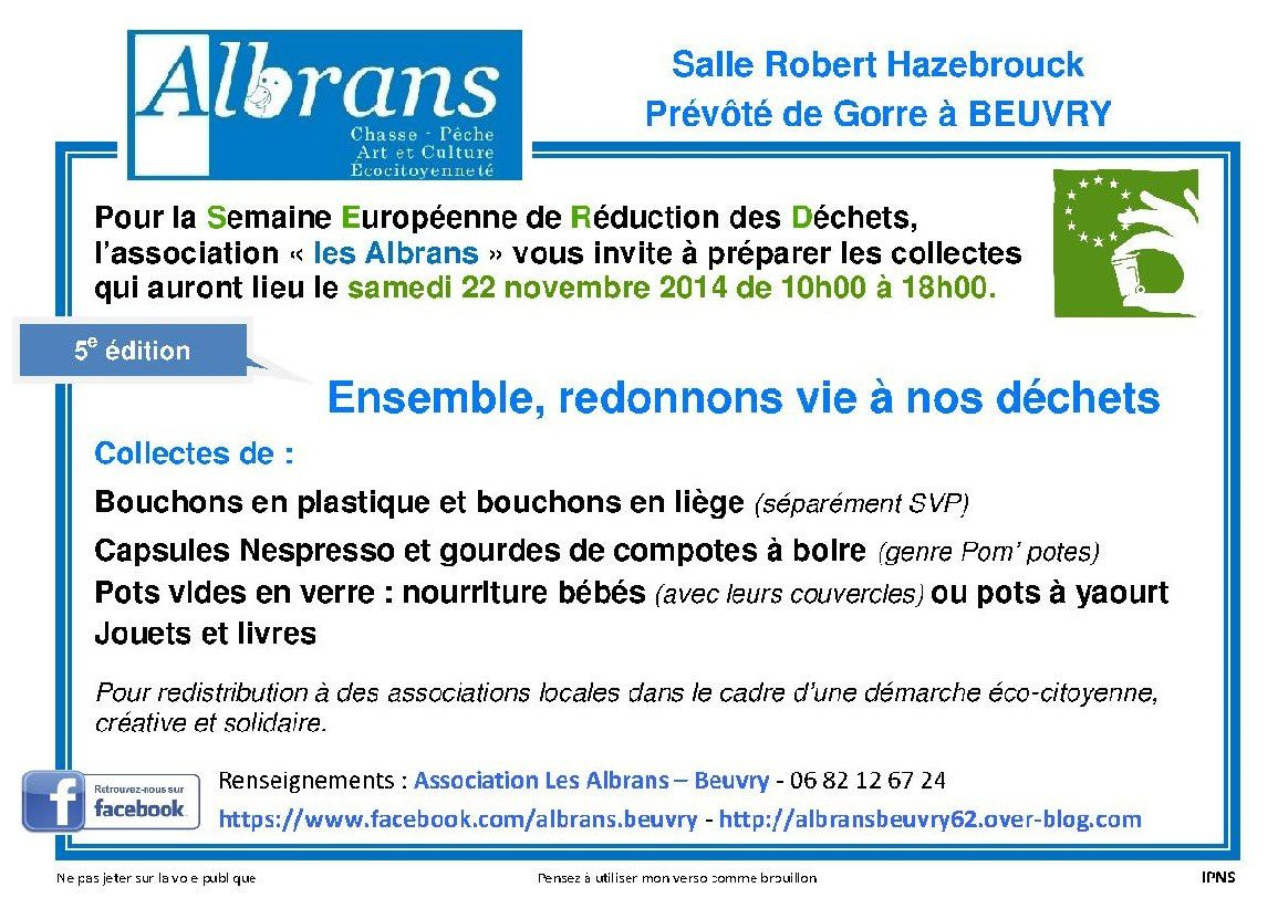 Affiches-Collectes serd 2014 beuvry