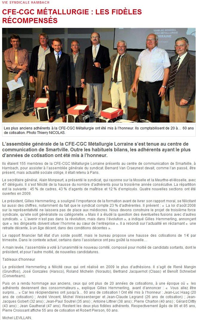 Article RL du 15-09-2010